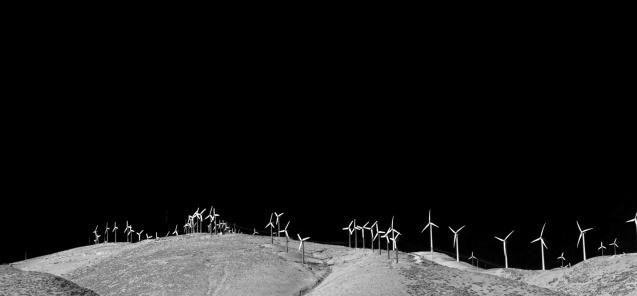 Joe Sterne Photography, California, roadtrip, c2c12, black and white, wind farm