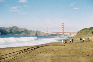 #projectfilm, baker beach, san francisco, bay bridge, joe sterne photography