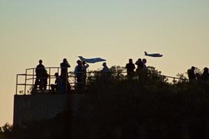 Hawk Hill, Sunset, Joe Sterne Photography, birding, learjet, airplanes,